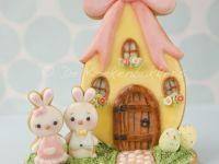 3D Easter Egg & Bunny Scene