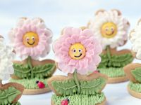 3D Flower cookies close up