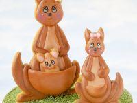 3D kangaroo cookie scene - De Koekenbakkers