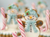 3D snowman cookie